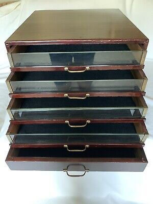 Antique J&P Coats 5 Drawer Spool Cabinet General Store Display Vintage Sewing!