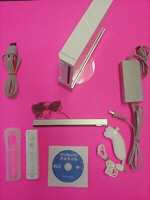 Nintendo Wii Bundle Launch Edition White Console RVL-001 GameCube - Tested