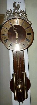 Antique Vintage Warmink Friese Wall Clock Dutch Chain Driven Excellent Working!