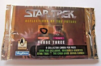 Skybox 1996 Star Trek Reflections of the Future Phase three trading card pack