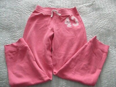 Next Pink Cotton Girls Joggers/Sweat Pants/Trousers.age 9 Years.
