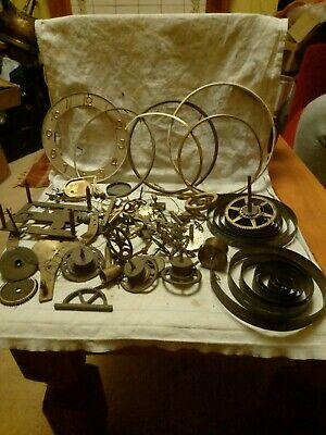 Joblot Of Old Clock Parts For Spares Or Repairs