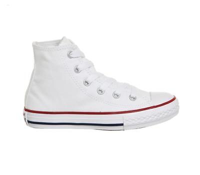 Bnib New Junior Boys Converse All Star Hi Tops Size Uk 2 & 2.5 White Eu 34 & 35