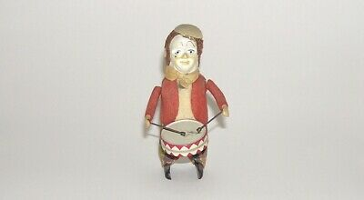 Vintage Schuco Wind-up Clown Playing Drums  Germany Working (DAKOTApaul)