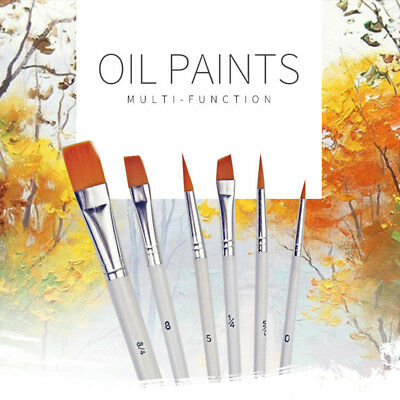 6Pcs Art Painting Brushes Set Acrylic Oil Watercolor Artist Paint Brush Set sk