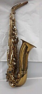 LA MONTE Vintage Brass Saxophone With Hard Shell Case- Made In Italy 1960s