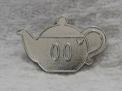 2018 Disney WDW Hidden Mickey Mouse Teapot Silver Chaser Pin Kitchen Essentials