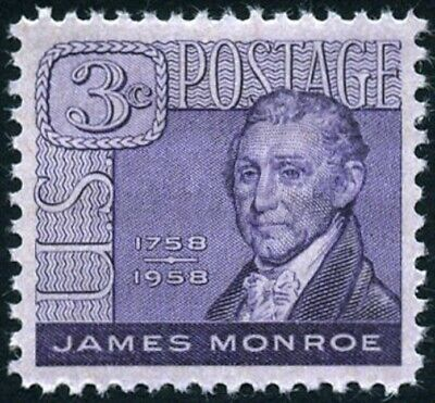 USA 1956 (2 for $1 Auction)--James Monroe (1758-1831), 5th President of the U.S.