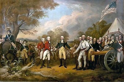 Excellent Oil painting male portraits Surrender of General Burgoyne on canvas