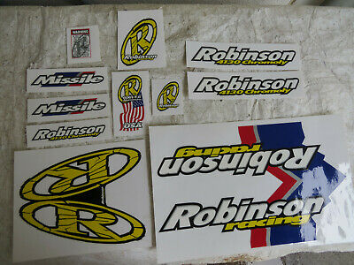 Vintage NOS BMX Robinson Racing Decals Stickers Thick Sticks PRO 24 AMTRAC