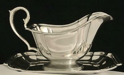 Vintage Deco Silver Plate Chadwick Gravy Boat And Under Plate