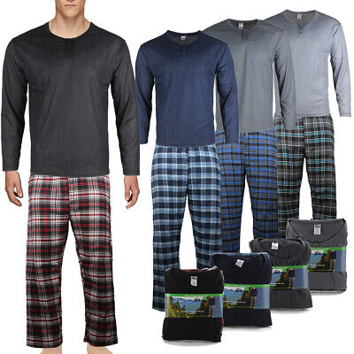 Rugged Frontier 2 Piece Lounge Men's Plaid Flannel  Pajama Set