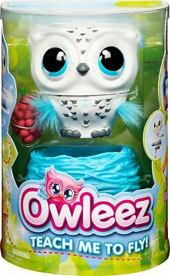 Owleez Flying Baby Owl Interactive Toy with Lights & Sounds Pink Kids NIB