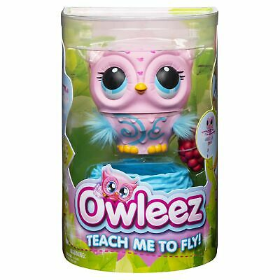 Owleez Flying Baby Owl Interactive Toy  Lights & Sounds (Pink) Kid same day ship