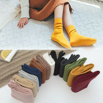 Color Women Thick Breathable Winter warm Cotton Socks Knitting Hosiery Stocking