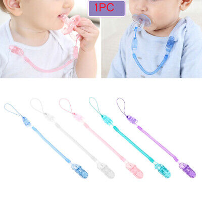 Anti-lost Chain Infant Nipple Strap Dummy Clips Baby Teething Pacifier Chain