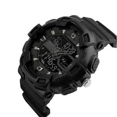 SKMEI Men's Date Fashion Military Digital Analog 50M Waterproof Sport LED Watch
