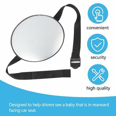 Large Adjustable View Rear/Baby/Child Seat Car Safety Mirror Headrest Mount Gn
