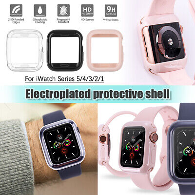 Plating Shell Tempered Glass Screen Protector For Apple Watch Series 5/4/3/2/1