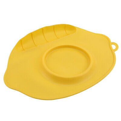 Cute Silicone Mat Happy Suction Table Food Tray Placemat Plate  CB