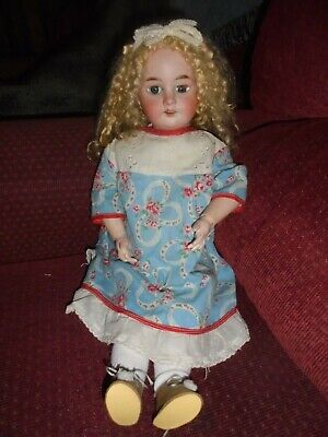 Stunning Antique 1894 Bisque head German doll 20 inches