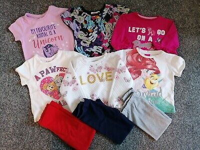 Girls clothes bundle age 4-5years, my little pony, paw patrol, leggings, mermaid