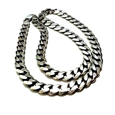 925 STERLING SILVER MIAMI CUBAN LINK NECKLACE BRACELET 6MM24g62g67g72g78g BR29