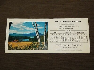 Vintage 1952 State Bank Of Albany Ny  Paper Advertisement