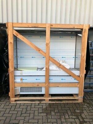 Brand New Stainless Steel refrigerated display cabinet with shelves