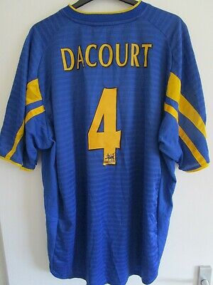 Leeds United FC STRONGBOW Rare Olivier Dacourt Away Shirt 2002-2003 XXL