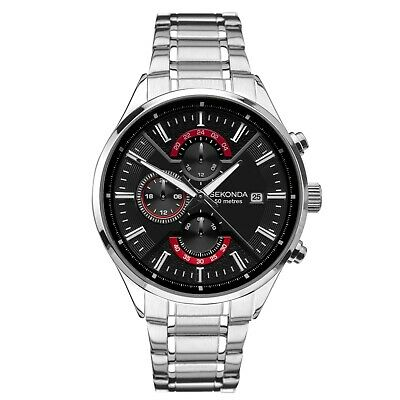 Sekonda 1697 Men's Classic Dual-Time Bracelet Watch