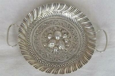 A Superb Antique Solid Sterling Silver Victorian Twin Handled Tray Dates 1889.