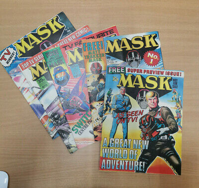 1986 UK comics #1-4 and Preview Issue MASK RARE