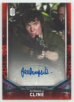 Doctor Who Signature Series 2018 Joe Dempsie as Cline Autograph Card Red 05/10