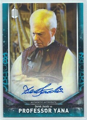 Doctor Who Signature Series 2018 Derek Jacobi Professor Yana Autograph Card /25