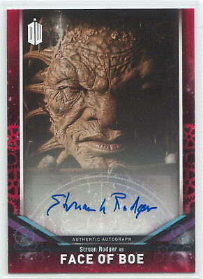 Doctor Who Signature Series 2018 Struan Rodger as Face of Boe Autograph Card 1/5
