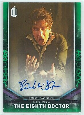 Doctor Who Signature Series 2018 Paul McGann Eighth Doctor Autograph Card 15/50