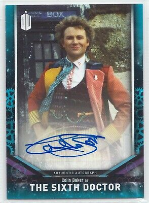Doctor Who Signature Series 2018 Colin Baker as The Sixth Autograph Card 04/25