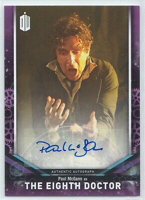 Doctor Who Signature Series 2018 Paul McGann as The Eighth Doctor Autograph Card