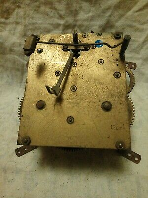 Old 12 Cm Clock Movement For Spares Or Repairs No 19