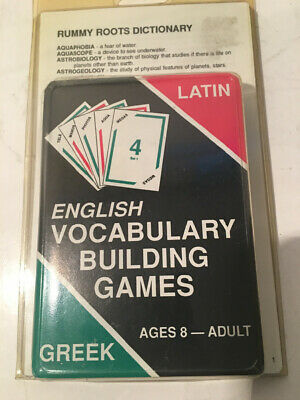 Rummy Roots Latin Greek English Vocabulary Building Game