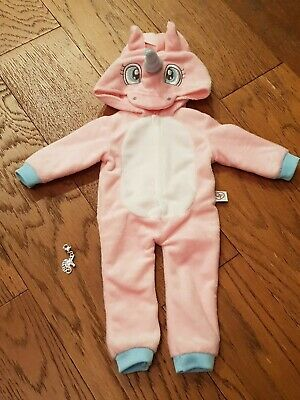 Design a Friend Dolls Clothes ~ Unicorn Hooded Zipped All-in-One + Charm - VGC!!