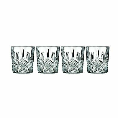 Waterford Crystal Whiskey Glasses Marquis Markham Old Fashioned Set 4 Double