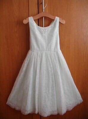 Monsoon LEILA Lace Embellished Girls Party Dress Age 6 Years BRAND NEW RP £55.00