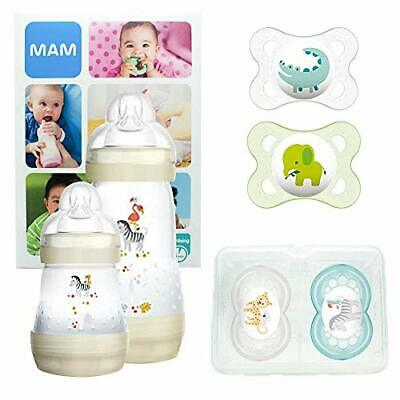 MAM First Steps Set, Regalo per neonato, Set di biberon con 2x Easy (Unisex)