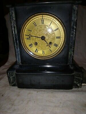 Old French Clock For Spares Or Repairs