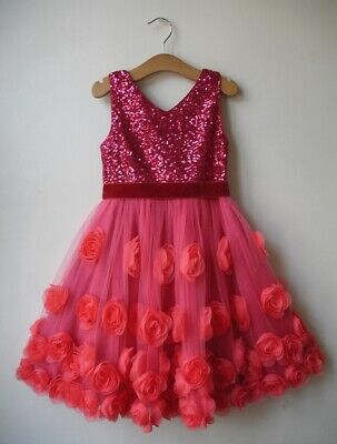 Monsoon ROSIE Sequin Embellished Party Dress Age 6 Years BRAND NEW RP £60.00