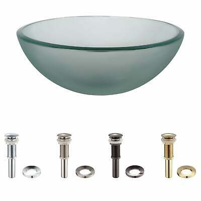 KRAUS 14 Inch Glass Vessel Sink in Frosted