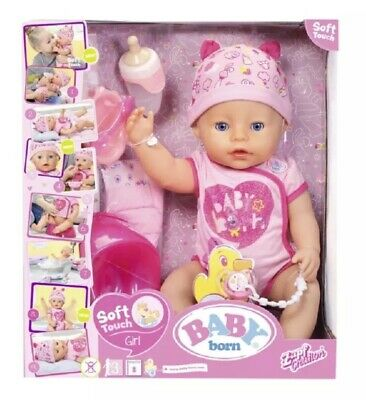 BNIB Baby Born Soft Touch Girl Doll - Perfect Gift This Christmas