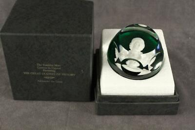 Franklin Mint BACCARAT Sulfide CAMEO Crystal Paperweight Alexander the Great